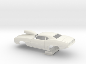 1/8 Pro Mod 69 Camaro W Scoop in White Natural Versatile Plastic