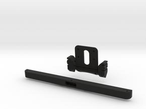 Raffee Land Rover Front Body Mount (SCX10) in Black Natural Versatile Plastic