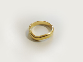 Wedding Wave Band in 14K Yellow Gold