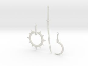 """BotW"" Yiga Weapons Set in White Natural Versatile Plastic: 1:12"