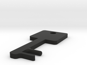 Square Key Shaped SmartPhone Stand in Black Natural Versatile Plastic