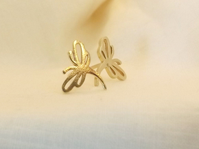 Buzzing Dragonfly™ Post Earrings in Natural Brass