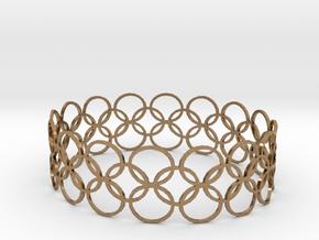 Bracelet CVB XL in Natural Brass