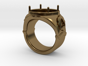 Ring Trefoil in Polished Bronze: 13 / 69