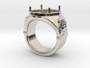 Ring Trefoil in Rhodium Plated Brass: 13 / 69