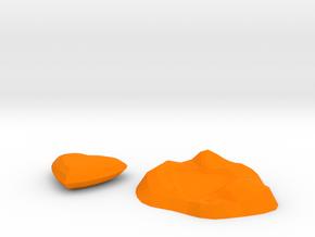 Mothers day Heart in Orange Processed Versatile Plastic