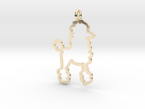 Poodle Charm! in 14K Yellow Gold