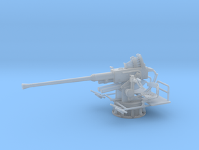 1/20 USN Single 40mm Bofors [UnElevated] in Smooth Fine Detail Plastic