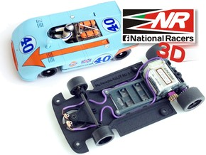 3D chassis for Fly Porsche 908-3 SW in Black Strong & Flexible