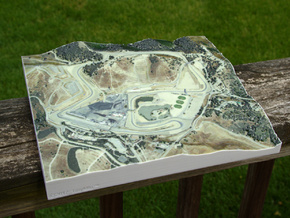 Laguna Seca, California, USA, 1:5000 in Glossy Full Color Sandstone