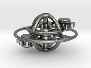 Saturn in Interlocking Polished Silver
