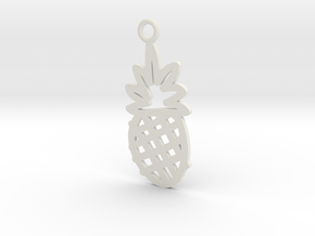 Pineapple Charm! in White Natural Versatile Plastic