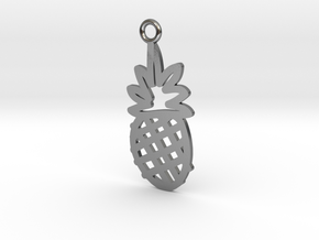 Pineapple Charm! in Polished Silver