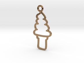 Soft Serve Charm! in Natural Brass