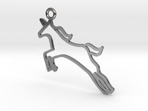 Unicorn Charm! in Polished Silver