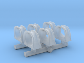 1/125 USN Fairlead Towing Chock Set in Smooth Fine Detail Plastic