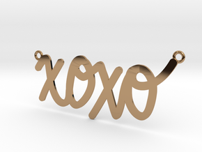 XOXO Necklace! in Polished Brass