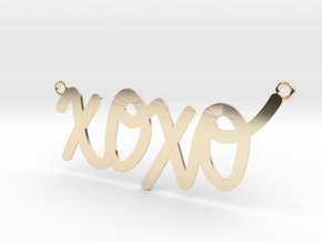 XOXO Necklace! in 14K Yellow Gold
