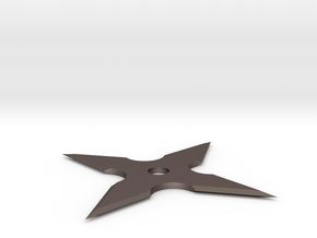 8 Blade, 4 Side Shuriken (Variant 2 Cheaper) in Polished Bronzed Silver Steel