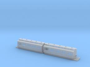 Doppelabteilwagen II. Fl Stadtbahn OBh-2 in Smoothest Fine Detail Plastic