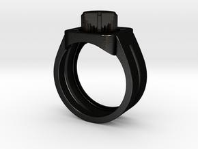 303 Acid Ring in Matte Black Steel: 7 / 54