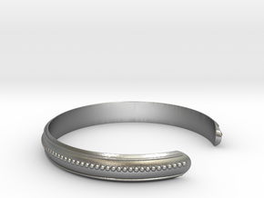 Easy Bracelet Medium Curved in Natural Silver