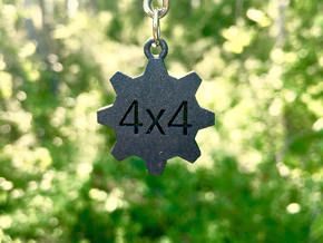 4x4 Keychain - for the offroad enthusiast !! in Matte Black Steel