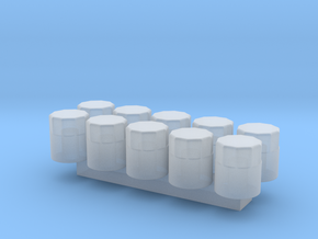 1/24 Scale Oil Filter (10 Pack) in Smooth Fine Detail Plastic
