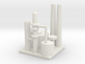 Oil Refinery in White Natural Versatile Plastic