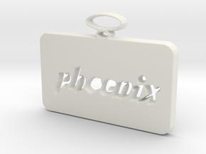 Phoenix pendant in White Natural Versatile Plastic