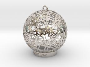 Modern Ornament in Platinum
