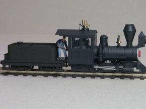 Small 8 wheel Tender for HOn30 F&C loco, ver.B in White Processed Versatile Plastic