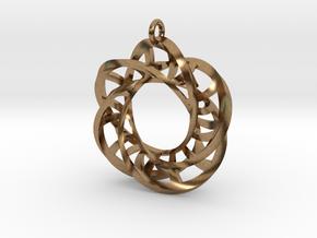 5,4 Torus Knot Ladder Pendant in Natural Brass