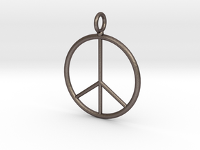 Peace symbol necklace in Stainless Steel