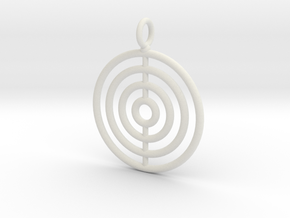 Circles on the water necklace in White Natural Versatile Plastic