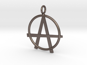 Anarchy necklace in Polished Bronzed Silver Steel