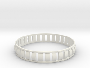 Special 1 Bracelet XL in White Natural Versatile Plastic
