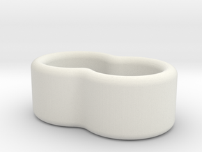 2 Wire Holder 4.5mm in White Natural Versatile Plastic