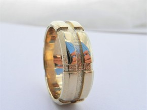 Mans Wedding Band   M-002 in 14K Gold