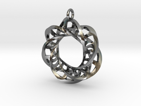Statement Interlocking Trefoil Ladders Pendant in Polished Silver (Interlocking Parts)