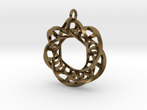 Statement Interlocking Trefoil Ladders Pendant in Natural Bronze (Interlocking Parts)