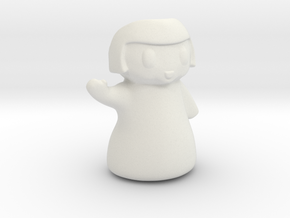 Chibi Planter for Plastic 4 inches tall in White Strong & Flexible