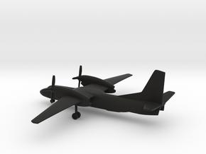 Antonov An-32 Cline in Black Natural Versatile Plastic: 1:285 - 6mm