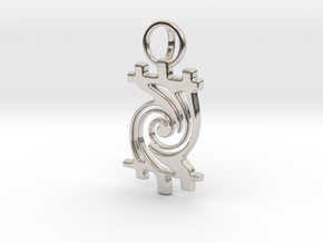 Timetwist - Pendant in Rhodium Plated Brass