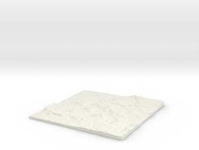 Custom-able Diorama Base 02 in White Natural Versatile Plastic
