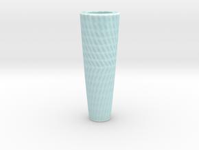 Tessellate Vase in Gloss Celadon Green Porcelain