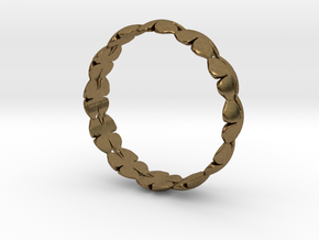 Clover Bracelet Medium in Natural Bronze