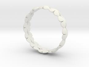 Clover Bracelet Medium in White Natural Versatile Plastic