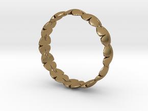 Clover Bracelet Medium in Polished Gold Steel