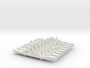 Leander Frigate Set, 8pc, 1/1800 in White Natural Versatile Plastic